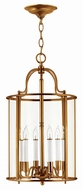 Hinkley 3478HR Gentry Heirloom Brass Foyer Lighting Fixture