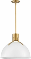 Hinkley 3483PT Argo Contemporary Polished White / Lacquered Brass LED 20  Drop Ceiling Lighting