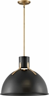 Hinkley 3483SK Argo Modern Satin Black / Lacquered Brass LED 20  Ceiling Light Pendant