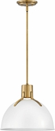 Hinkley 3487PT Argo Contemporary Polished White / Lacquered Brass LED 14  Ceiling Pendant Light