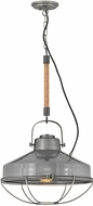 Hinkley 34904RP Brooklyn Modern Rustic Pewter Pendant Light Fixture