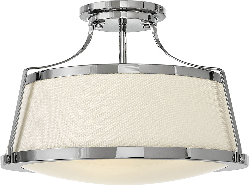 Modern Chrome Ceiling Light Fixture