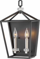 Hinkley 3532BK Stinson Black / Polished Nickel Lighting Wall Sconce