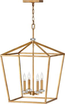 Hinkley 3536DA Stinson Distressed Brass 18  Foyer Light Fixture