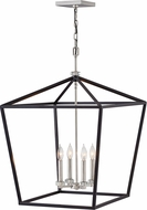 Hinkley 3538BK Stinson Black / Polished Nickel Foyer Lighting