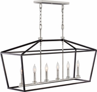 Hinkley 3539BK Stinson Black / Polished Nickel Kitchen Island Light