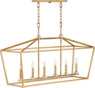 Hinkley 3539DA Stinson Distressed Brass Island Light Fixture