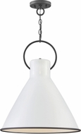Hinkley 3555PT Winnie Modern Polished White / Distressed Black Pendant Lighting