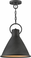 Hinkley 3557DZ Winnie Contemporary Aged Zinc / Distressed Black Mini Pendant Light