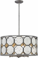 Hinkley 3564BV Lara Contemporary Brushed Silver 21.75  Drum Pendant Lighting