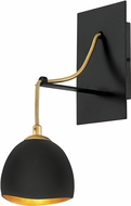 Hinkley 35900SHB Nula Modern Shell Black Wall Swing Arm Lamp