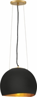 Hinkley 35904SHB Nula Contemporary Shell Black Ceiling Pendant Light