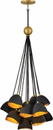 Hinkley 35906SHB Nula Modern Shell Black Multi Pendant Lighting