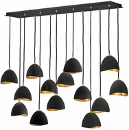 Hinkley 35909SHB Nula Modern Shell Black Multi Hanging Pendant Light