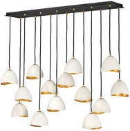 Hinkley 35909SHW Nula Modern Shell White Multi Pendant Hanging Light