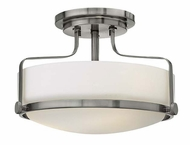 Hinkley 3641BN Harper 14 Inch Diameter Brushed Nickel Semi Flush Lighting