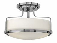 Hinkley 3641CM Harper Chrome Semi Flush Mount 14 Inch Diameter Ceiling Lamp