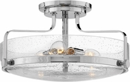 Hinkley 3643CM-CS Harper Modern Chrome w/ Clear Seedy 18  Overhead Lighting