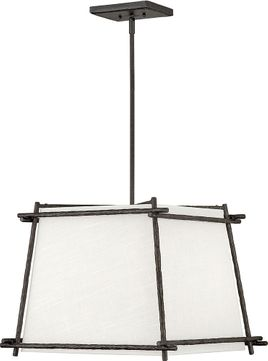 Hinkley 3674FE Tress Modern Iron Ore 21  Hanging Lamp