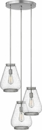 Hinkley 3686BN Finley Contemporary Brushed Nickel Multi Ceiling Light Pendant