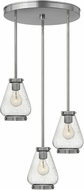 Hinkley 3688BN Finley Modern Brushed Nickel Multi Drop Lighting Fixture