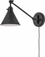 Hinkley 3690BK Arti Vintage Black Wall Swing Arm Lamp