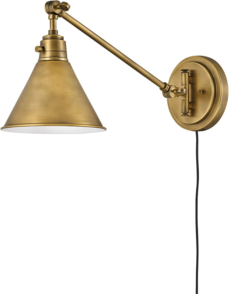 Heritage Br Swing Arm Wall Lamp
