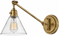Hinkley 3690HB-CL Arti Modern Heritage Brass with Clear glass LED Wall Swing Arm Lamp