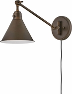 Hinkley 3690OB Arti Vintage Olde Bronze Wall Swing Arm Lamp