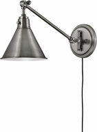 Hinkley 3690PL Arti Retro Polished Antique Nickel Swing Arm Wall Lamp