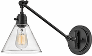Hinkley 3691BK-CL Arti Contemporary Black with Clear glass LED Swing Arm Wall Lamp