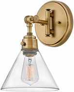 Hinkley 3691HB-CL Arti Modern Heritage Brass with Clear glass LED Light Sconce