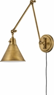 Hinkley 3692HB Arti Retro Heritage Brass Swing Arm Wall Lamp