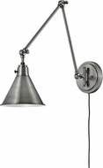 Hinkley 3692PL Arti Retro Polished Antique Nickel Swing Arm Wall Lamp