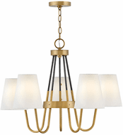 Hinkley 37385HB Aston Heritage Brass LED Medium Lighting Chandelier