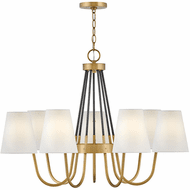 Hinkley 37386HB Aston Heritage Brass LED Large Chandelier Lamp