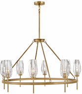 Hinkley 38258HB Ana Modern Heritage Brass LED Ceiling Chandelier