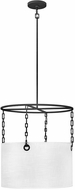 Hinkley 38404BLK Tribeca Contemporary Black Drum Hanging Light Fixture