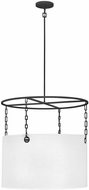 Hinkley 38406BLK Tribeca Modern Black Drum Drop Lighting