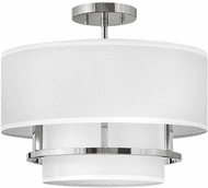 Hinkley 38893PN Graham Contemporary Polished Nickel LED 16 Ceiling Light Fixture