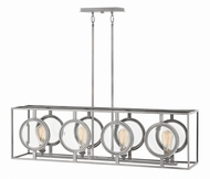 Hinkley 3926PL Fulham Contemporary Polished Antique Nickel Kitchen Island Lighting
