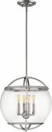 Hinkley 3934PN Calvin Modern Polished Nickel Drop Ceiling Lighting