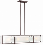 Hinkley 3996OZ Latitude Contemporary Oil Rubbed Bronze Kitchen Island Lighting