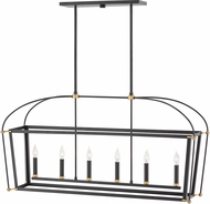 Hinkley 4054BK Selby Black Kitchen Island Light Fixture