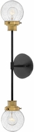 Hinkley 40692BK Poppy Modern Black Wall Light Sconce