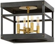 Hinkley 4071HB Porter Contemporary Heritage Brass / Aged Zinc Ceiling Light