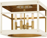 Hinkley 4071HB-WT Porter Heritage Brass w/ Warm White Flush Mount Ceiling Light Fixture