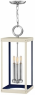 Hinkley 4074PN Porter Contemporary Polished Nickel / Warm White Foyer Lighting