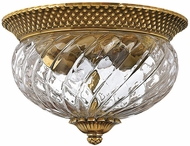 Hinkley 4102BB Plantation Traditional Burnished Brass Flush Ceiling Light Fixture