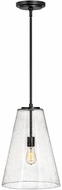 Hinkley 41047SK Vance Contemporary Satin Black Drop Lighting Fixture